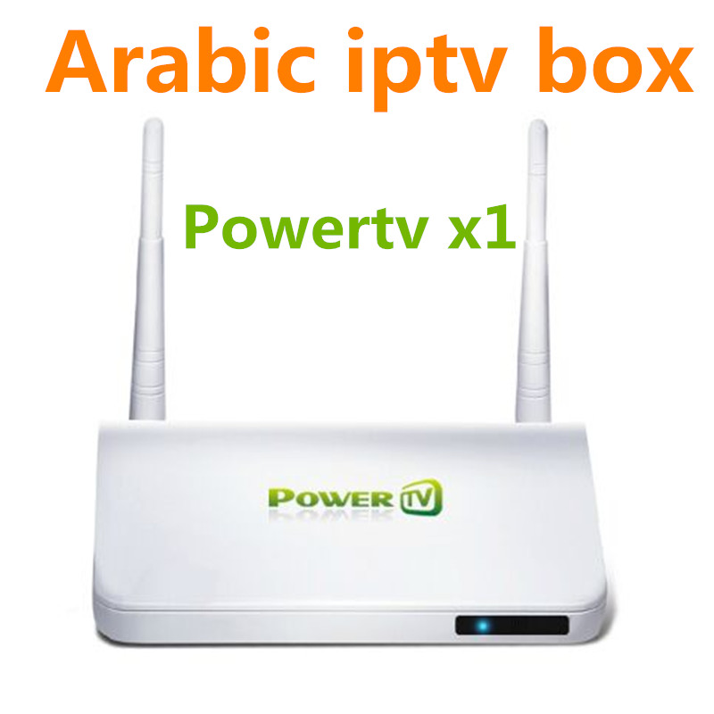 Arabic Iptv Box Powertv X1 Android Tv Box  one year Watching Support  Support 500+ Iptv Arabic Europe African US UK Channels movie iptv