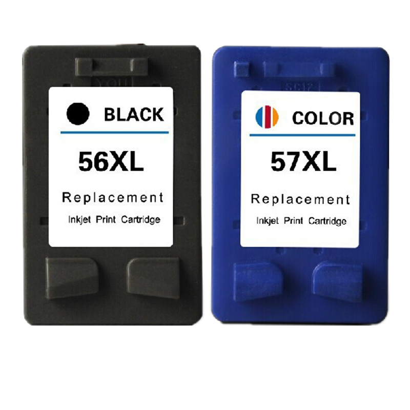 Black 56 or Color 57 XL Ink <font><b>Cartridge</b></font> Replacement For <font><b>HP</b></font> 56 57 HP56 HP57 Deskjet 2100 220 450 5510 <font><b>5550</b></font> 5552 Printer <font><b>Cartridges</b></font> image