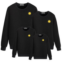 cartoon sun image for family hoody mommy and me outfits clothes dad clothing dress matching mother daughter look mom son baby