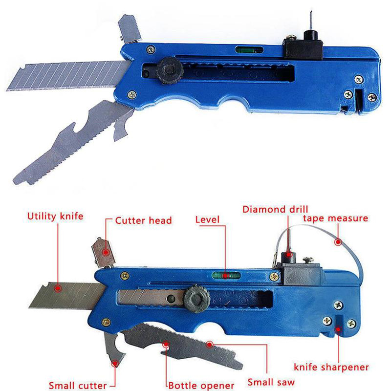 Dropshipping Professiona Glass Six Wheel Metal Glass Cutting Kit Tool With Measure Ruler
