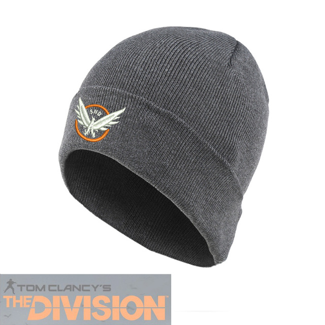 751a64e8247 Customize Embrodiery Logo Cap Game Tom Clancy s Division SHD Agent Cap  Grey Red Black