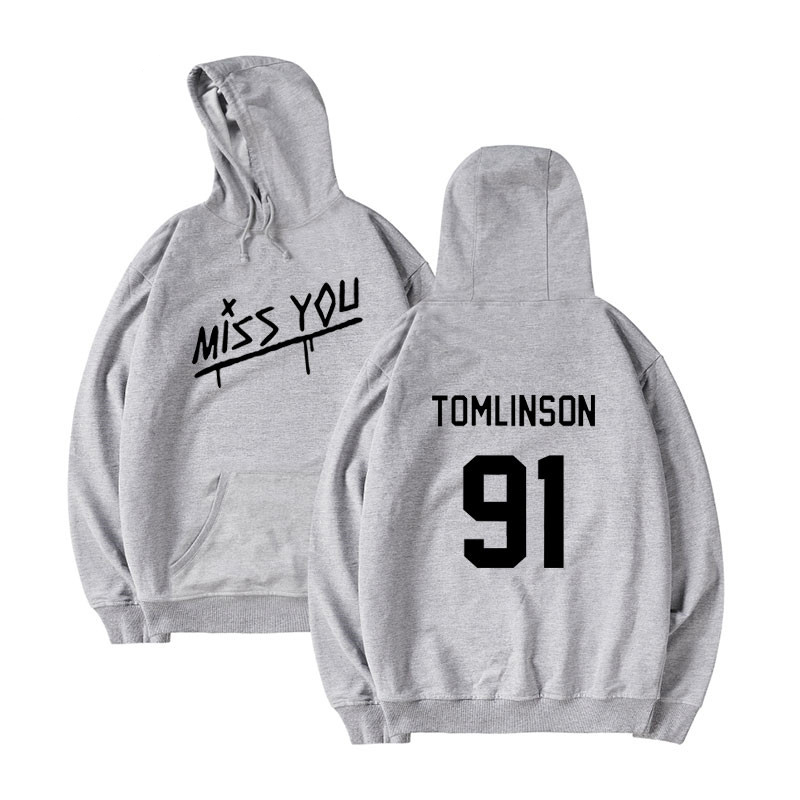 Louis Tomlinson One Direction  Spring The New  Boy Girl Fashion High Quality Hooded Hip Hop Hooded Sweatshirt Casual Clothes