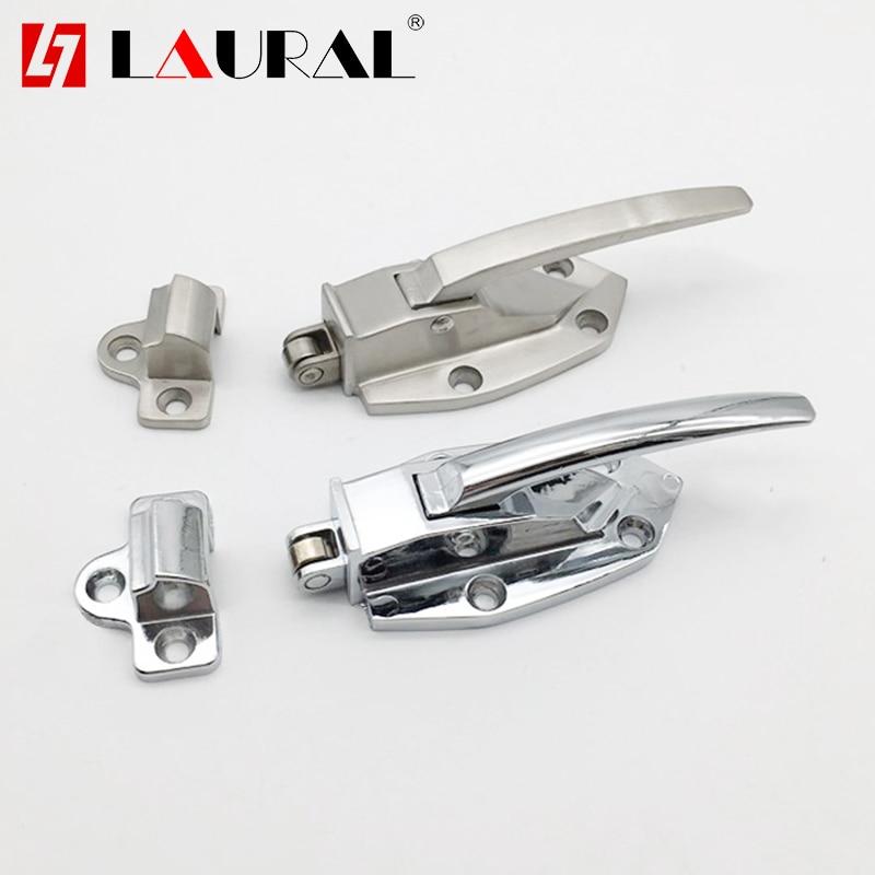 Stainless Steel Oven Door Lock Freezer Lock Latch Handle Cold Storage Door Lock Oven Flat Door Handle A06