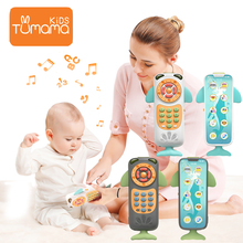 Tumama Baby Mobile Whale Remote Control Touch Screen Phone Toys For Children Musical Flashing Mobiles Newborn