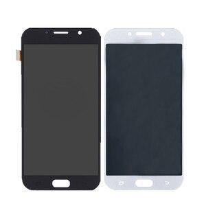 Image 2 - ЖК дисплей AMOLED для Samsung Galaxy A7 2017 A720 A720F, дигитайзер сенсорного экрана в сборе, детали для телефонов Galaxy A7 2017