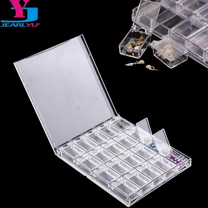 nova 20 grid vazio caso caixa de armazenamento de joias de diamantes decoracoes nail art strass