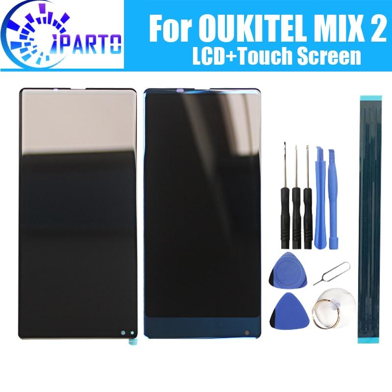 5,99 дюймов OUKITEL MIX 2 ЖК дисплей + сенсорный экран 100% оригинал протестированное стекло lcd дигитайзера замена панели для OUKITEL MIX 2