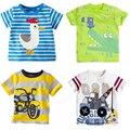 Primavera 2016 roupa dos miúdos das meninas dos meninos t camisa dos desenhos animados das crianças da criança do bebê menino roupas de algodão primavera outono manga longa topos