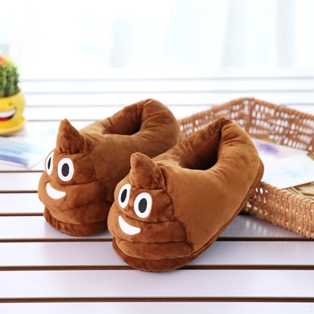 Fun Cartoon Emoji Warm Cute Plush Slipper Expression Slippers Winter Warm House Non-Slip Shoes Unisex slipper