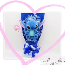 Cute Stitch plush toys cartoon stitch bouquet gift box Stuffed Doll Best Gift for Children toy Christmas Valentine's graduation