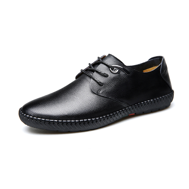 Brand Business Genuine Leather Man Casual Shoes Men Adult Quality Spring Autumn Walking Footwear Breathable Male Shoes vesonal brand casual shoes men loafers adult footwear ons walking quality genuine leather soft mocassin male boat comfortable