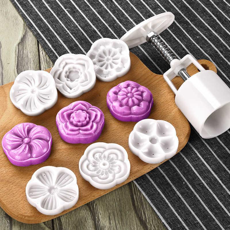 DIY Kue Makanan Penutup Tekan COOKIE Pola Pemasangan Mesin 6 Model Tekan Cookie Alat Biscuit Pembuat Kue Bulan Alat