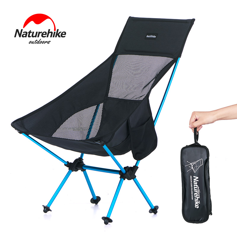 Naturehike Portable Lightweight Folding Camping Chair Outdoor High Back Picnic Chair Fishing Backpacking Hiking Sports Chair