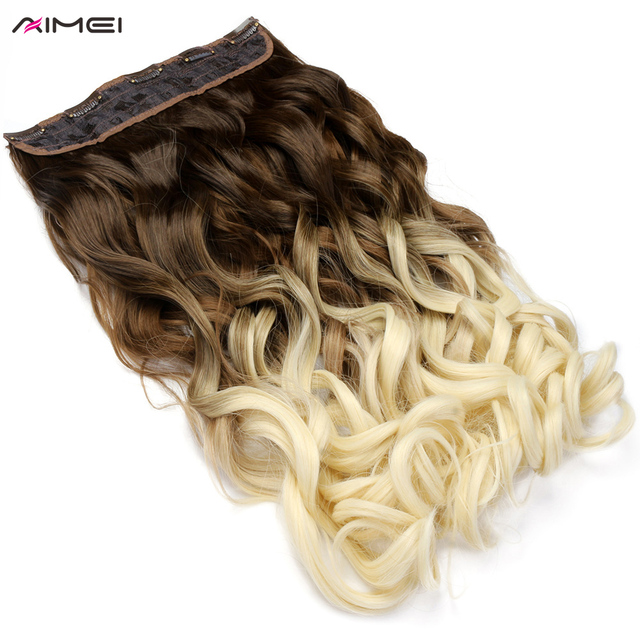 Aimei 24 Synthetic Clip In One Piece Hair Extensions 60cm Long Wavy