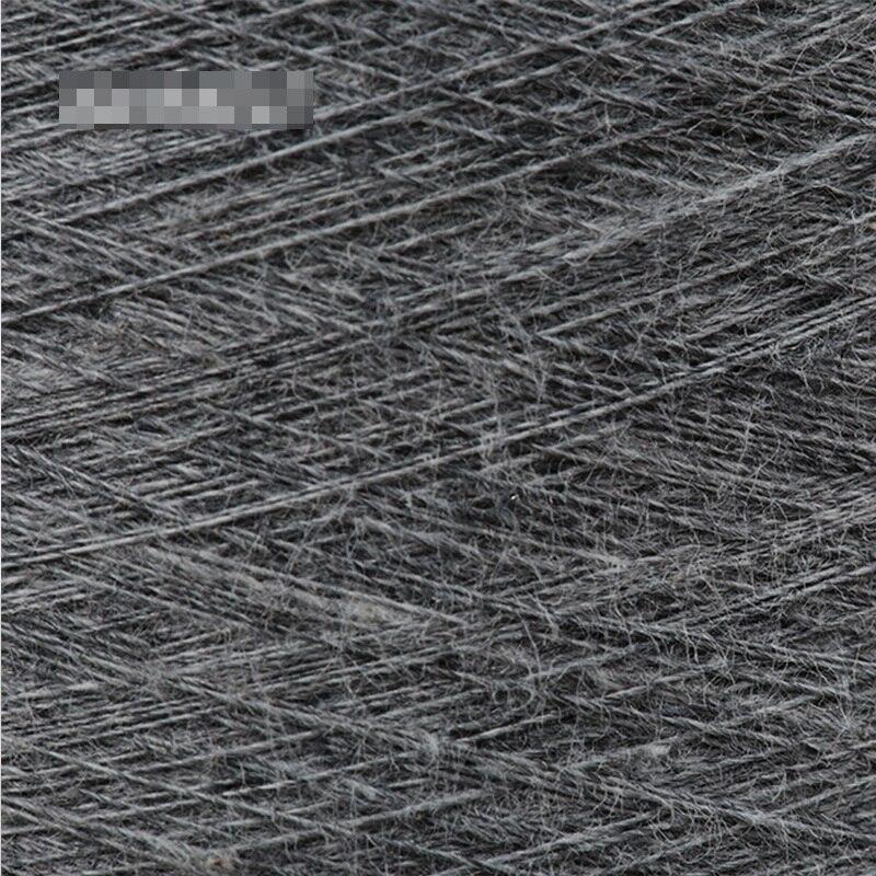 Темно серая чесаная хлопчатобумажная и серебряная нить для шитья текстильная пряжа 32 s Антистатическая (90% хлопковое волокно + 10% Серебряное волокно) - 5