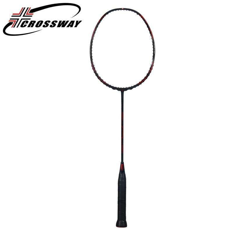 все цены на CROSSWAY professional offensive type badminton racket badminton raquetes middle high professional outdoor fitness sports AK49 онлайн