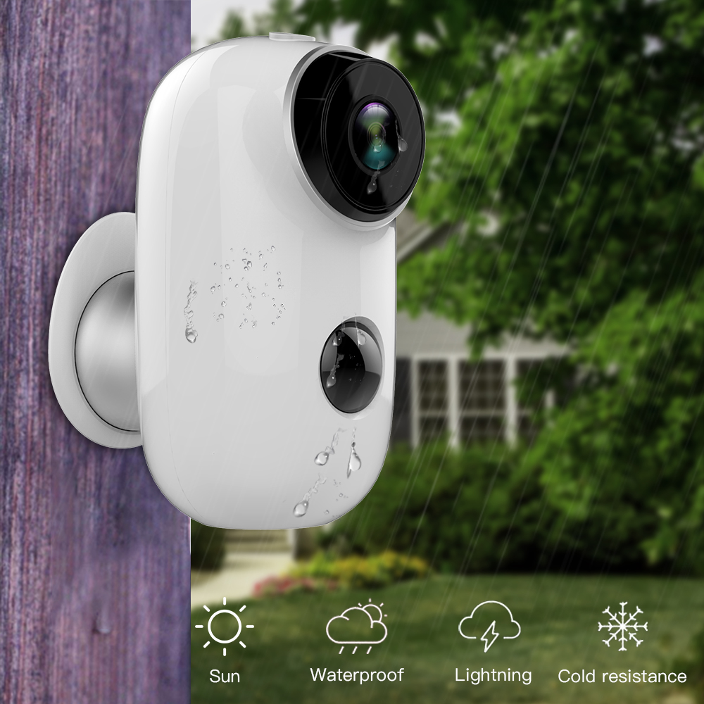 SDETER 100% batterie Rechargeable sans fil CCTV Wifi caméra IP extérieure IP65 étanche caméra de sécurité intérieure PIR alarme de mouvement