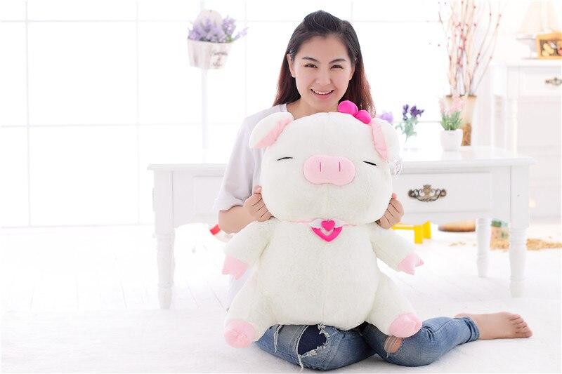 Taille moyenne en peluche sanshun cochon jouet nouveau joli cochon poupée cadeau environ 60 cm