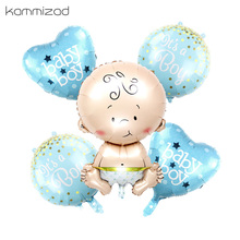 5 pz/lotto aerostati della stagnola è un RAGAZZO DEL BAMBINO DELLA RAGAZZA di elio palloncini per la festa di compleanno del bambino doccia ragazza decorazione di aria balao giocattoli classici