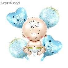 Ballons à lhélium en feuille, 5 pièces/lot, pour fête danniversaire, fête prénatale, jouets classiques à air, décoration pour bébé fille