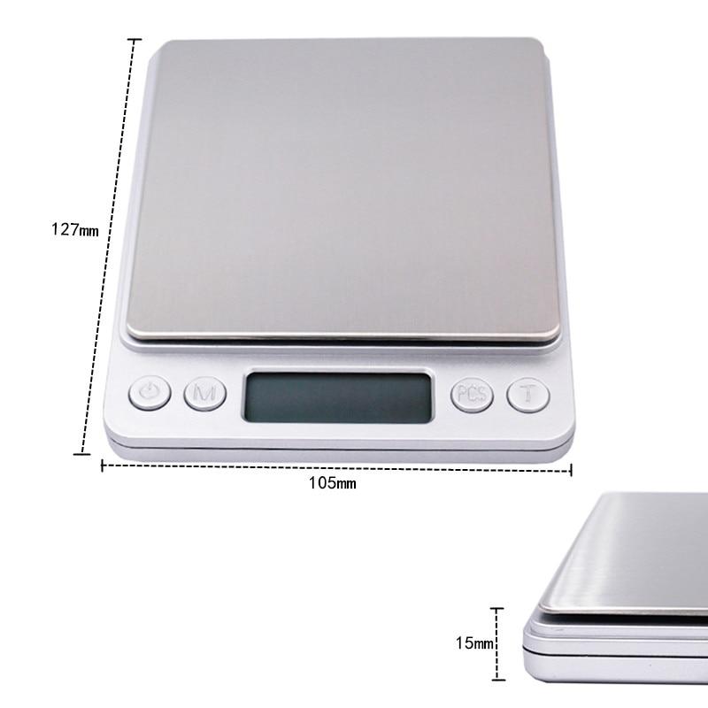 3000g 0,1g elektroninių 3kg skaitmeninių papuošalų balanso gramų - Matavimo prietaisai - Nuotrauka 3