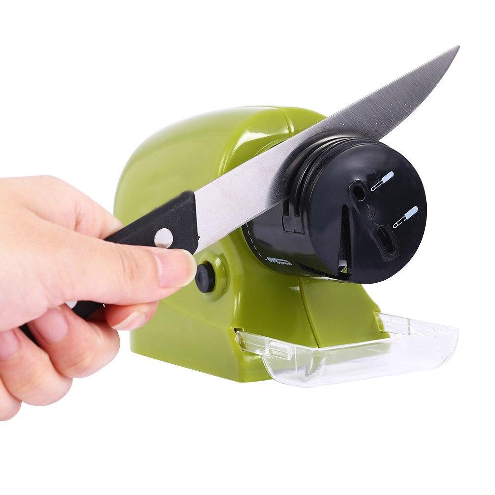 cordless power sharpening stone diamond grinding wheel motorized household knife sharpener kitchen sharpening tools