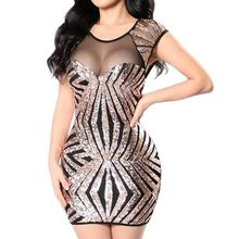 Sequin Sexy dress Women Sleeveless Bodycon Party Dress Korean fashion Slim hollow out Summer dress robe femme vestidos #1228(China)