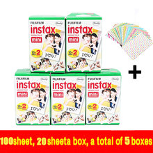 100 sheets High quality Original Fujifilm instax mini 8 film for 7S 25 8 50s 90 polaroid instant camera mini film white edage