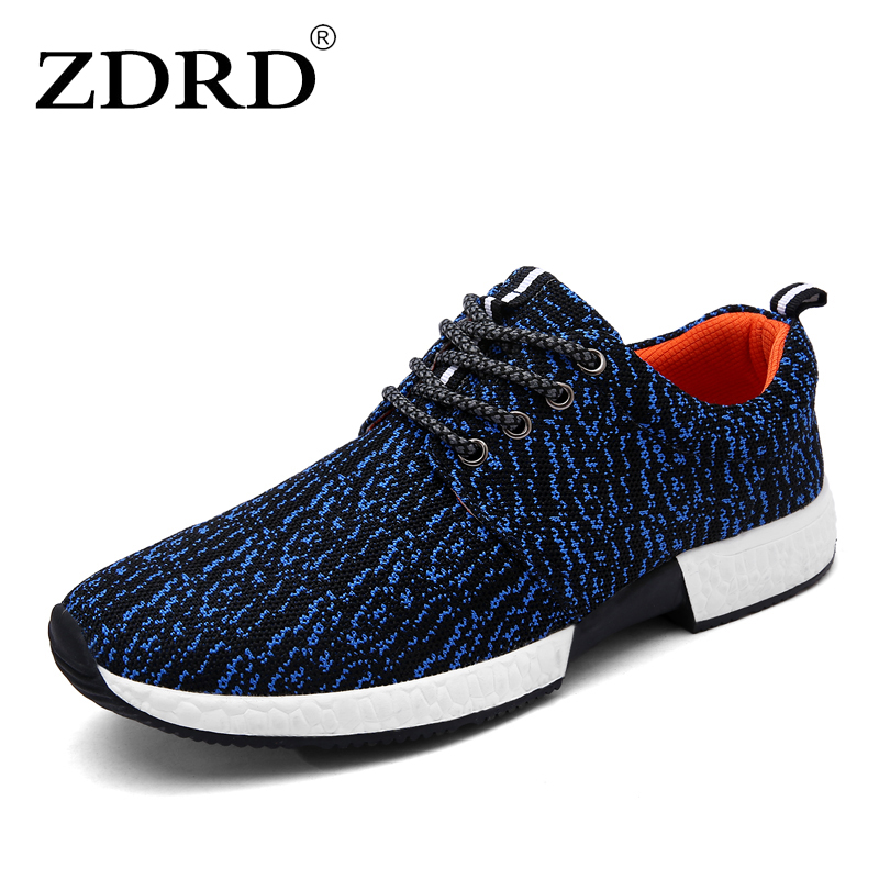 ZDRD New Brand Breathable Men Casual Shoes Fashion Men Walking Shoes Light Men Trainers Shoes Designer Men Outdoor Lace Up Shoes