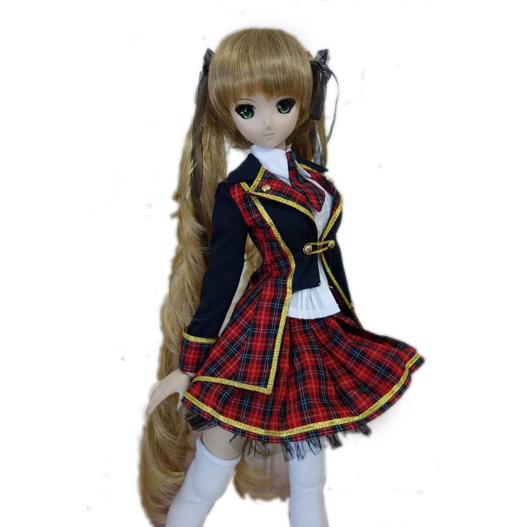289# Red /& Black Lace Plaid Clothes Dress//Suit MSD AOD 1//4 BJD Dollfie PF
