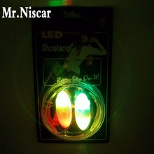 Mr.Niscar 1 Pair Rainbow LED Fluorescent Light Shoelaces Colorful Flashing Shoe Laces Strings for Boys Girls Kids Party Shoes