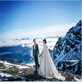 White Wedding custom size coat winter wedding Cape Satin Luxury jacket with fur trim sweep train bridal cape wedding wrap