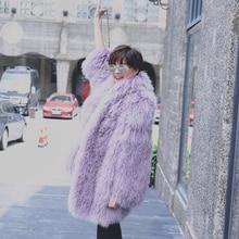 Winter thick warm fur coat genuine Mongolia lamb fur women coats fashion female turn down collar full sleeve sheepskin outerwear