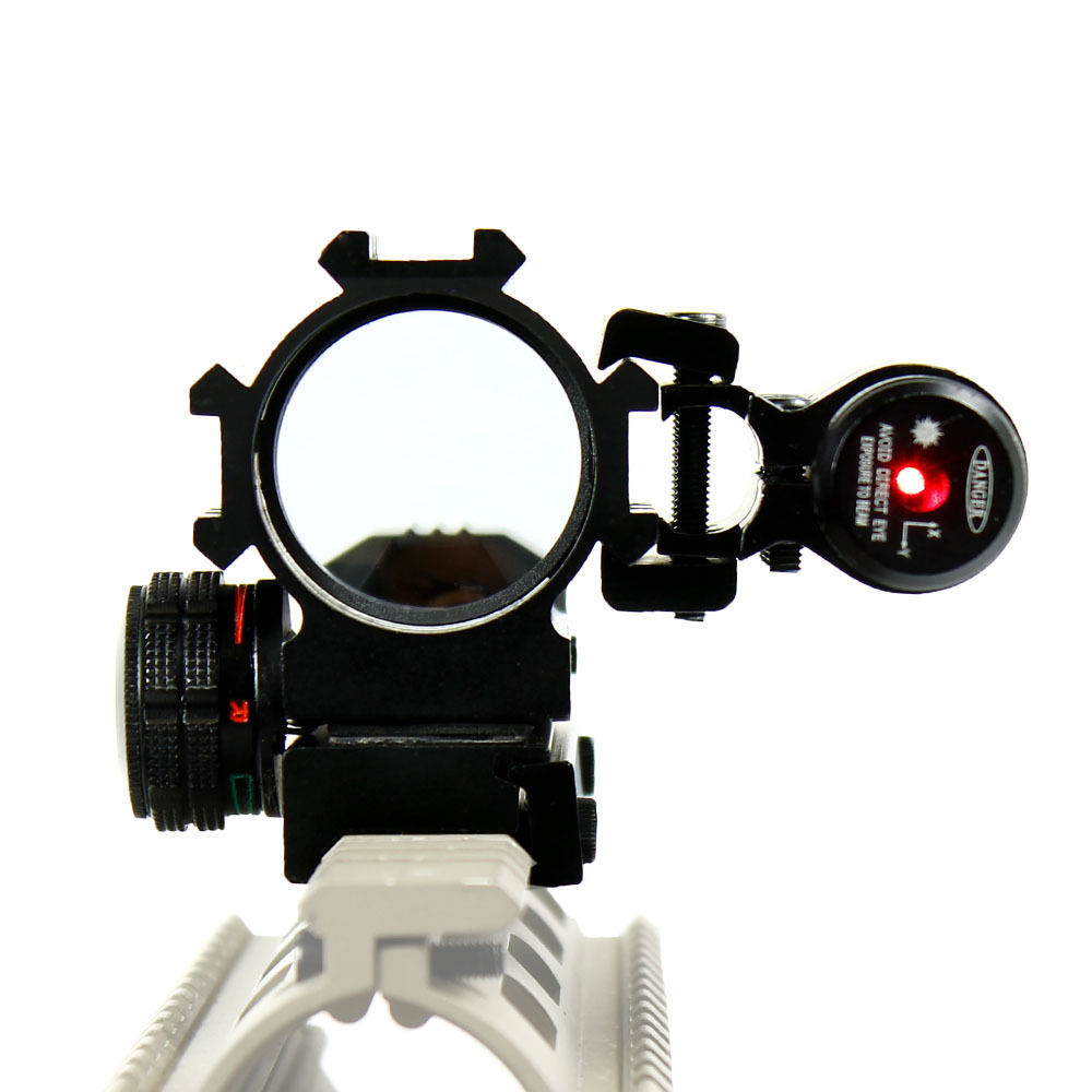 ФОТО High Quality Holographic Tactical Red / Green 4 Reticles Reflex Dot Scope & Laser Sight Combo Hunting Airsoft Free Shipping