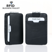 2019 New Men Card Holders  Rfid Wallets Genuine Leather Blocking Holder for Protected