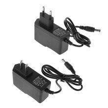 12.6V Carregador De Bateria de Lítio 1A 18650/Polymer Bateria 100 240V 5.5MM x 2.1MM Carregador Com Cabo DC UE/EUA Plug