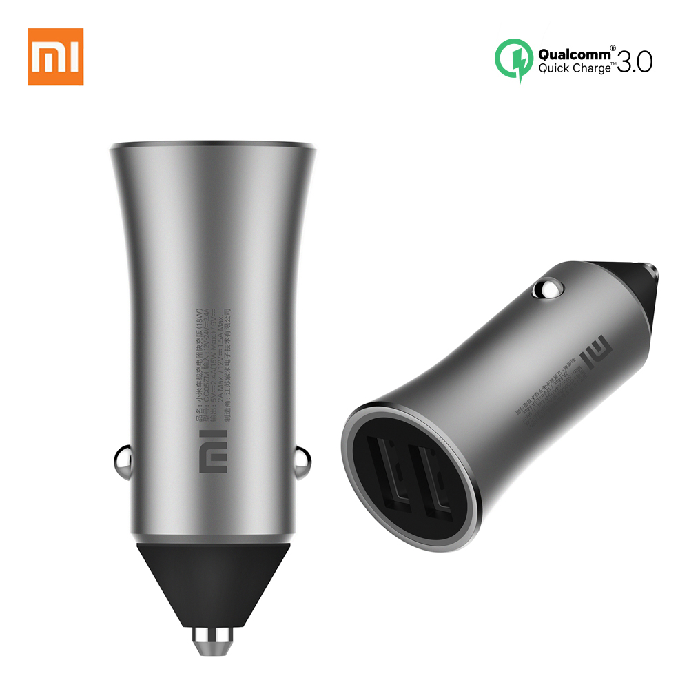 Original Xiaomi Car Charger 18W Fast Charge Mi Car Charger Dual USB Quick Charge Adapter For iPhone iPad Samsung Huawei Sony LG-in Car Chargers from Cellphones & Telecommunications on AliExpress - 11.11_Double 11_Singles' Day 1