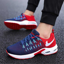 Summer autumn breathable flying woven sports men's shoes hollow casual fashion models lightweight foreign trade running shoes
