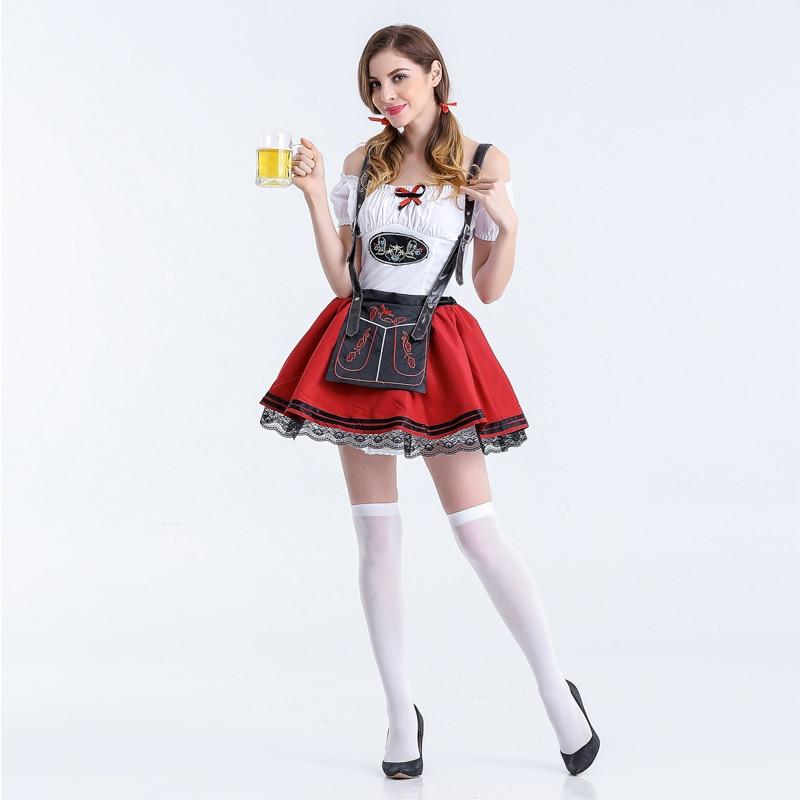 site réputé 3d5df 88bb6 € 16.97 25% de réduction|Mode femmes adulte Oktoberfest Costume Sexy bière  fille Bar robe bavaroise Festival bière femme de chambre fête fantaisie ...