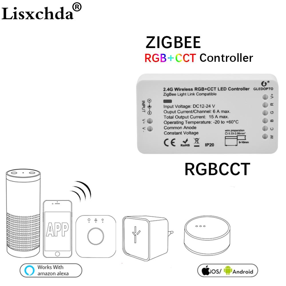 16million ZIGBEE Led Controller RGB+CCT WW/CW zigbee controller LED DC12-24V LED strip controller zll app controller RGBW rgb zigbee led controller rgb cct zigbee controller led dc12 24v led strip controller zll app controller rgbw rgb zigbee dimmer