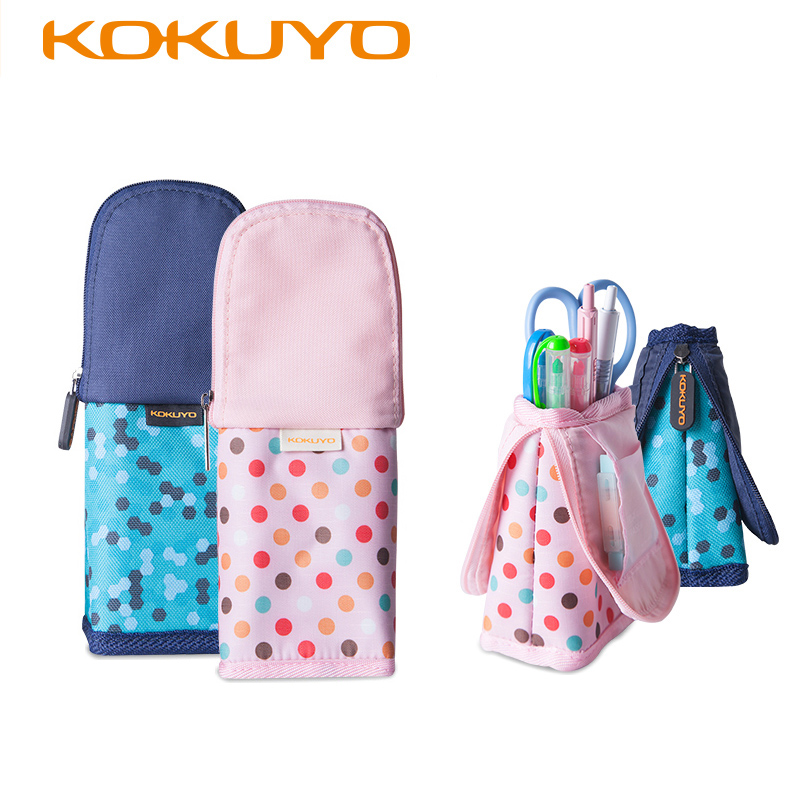 KUKUYO Zipper Pencil Case Lovely Large Capacity Canvas Cute Pencil Bag Box Estuche Escolar Students Stationery Office Supplies students simple large capacity pencil bag large capacity creative black and white pencil case school supplies q13