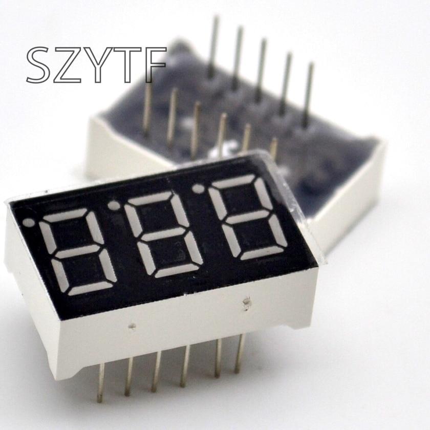 10PCS 3bit Common Cathode Digital Tube 0.36