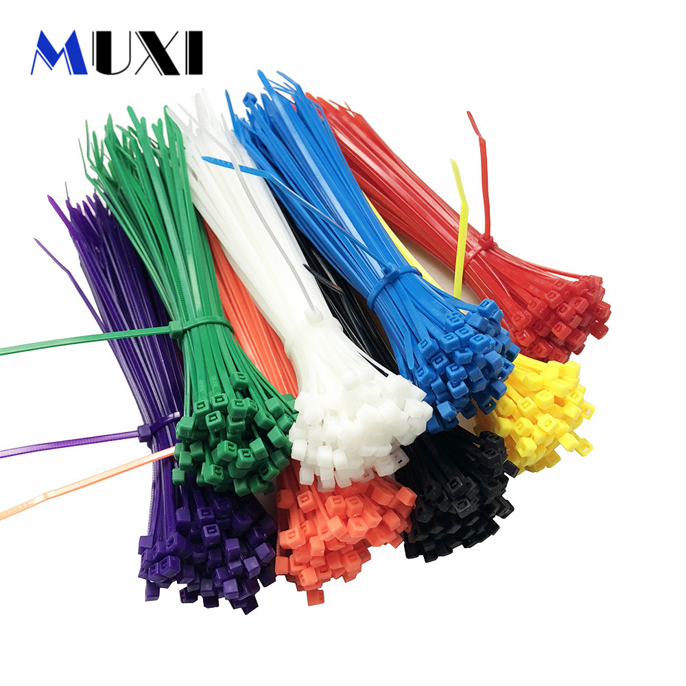 100Pcs/pack 3*150 High Quality Width 2.5mm White BLack Self-locking Plastic Nylon Cable Ties,Wire Zip Tie