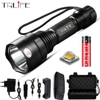 Супер яркий светодиодный фонарик 1/5 режимов, тактический фонарик T6 L2 для ночной езды, кемпинга, походов, охоты, использования 18650