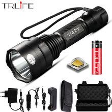 ไฟฉาย LED Super Bright 1/5 โหมดไฟฉาย T6 L2 Lanternas สำหรับ Night Riding Camping เดินป่าล่าสัตว์ 18650