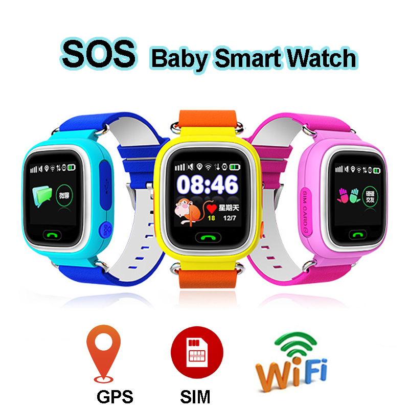 SOS GPS <font><b>Smart</b></font> <font><b>Watch</b></font> for <font><b>Kids</b></font> Children WiFi /GPS /LBS Location Tracker Finder <font><b>Q90</b></font> Baby <font><b>Watch</b></font> Phone Remote Monitor VS Q50 Q80 Band image