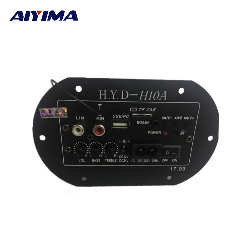 AIYIMA Amplifiers Audio Board Amplificador Subwoofer Amplifier Board Built-in Bluetooth FM Radio 220V 12V 24V Digital IC Tube