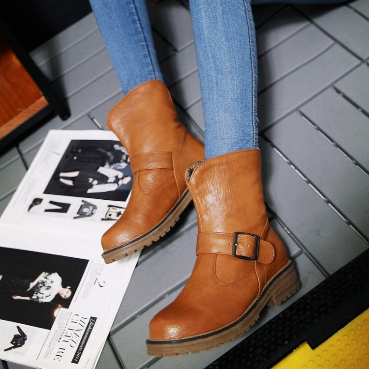 ФОТО Fastener customize plus size shoes 40 41 42 43 female boots shoes boots free shipping