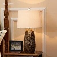 Modern LED Table Lamp Lustre Jackfruit Shape Table Lamps For Bedroom Bedside Lampshade Abajur Lampara De