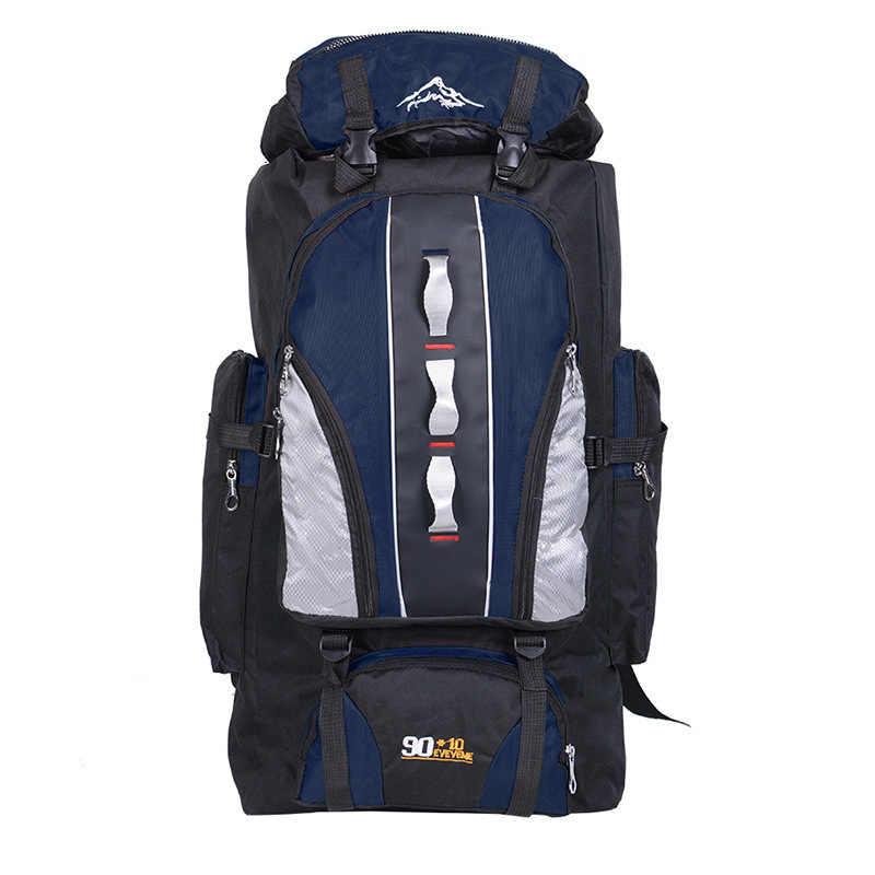 Открытый спортивный рюкзак 100L большой емкости мужская походная сумка для путешествий альпинистские сумки для рыбалки женские водонепроницаемые Рюкзаки
